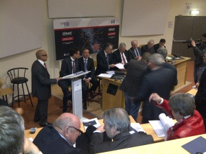 Signature de l'accord-cadre du CDT Sénart