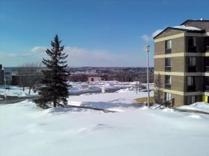 Vue de Sherbrooke depuis le campus de l'université