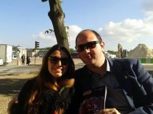 Ma nièce et moi à Versailles, 15 juin 2014
